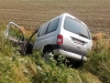 Peugeot Partner in a ditch