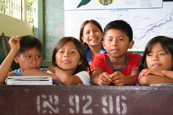 Children in an elementary school