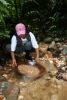 Panning for gold in the Amazon rain forest