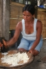 Indigeneous woman preparing Chicha
