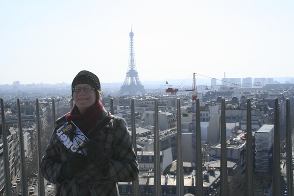 View from the top of the Arc de Triomphe. Poor old wifey, doing hundreds of steps while being pregnant is hard.