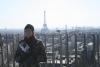 Mrs.B with a panorama of Paris
