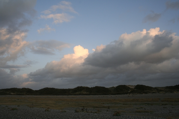 Dunes of La Molière in the evening