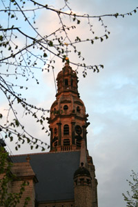 The church of Saint-Paul's overlooks the red light district, giving a stern look at the sins of the flesh committed nearby