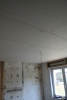 Lowered ceiling - plasterboards up