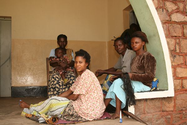 Women waiting at a maternity