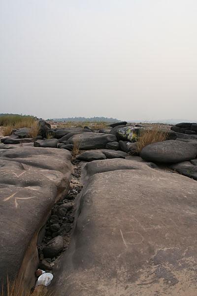 Giant river stones