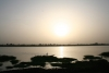 Niger river at sunset